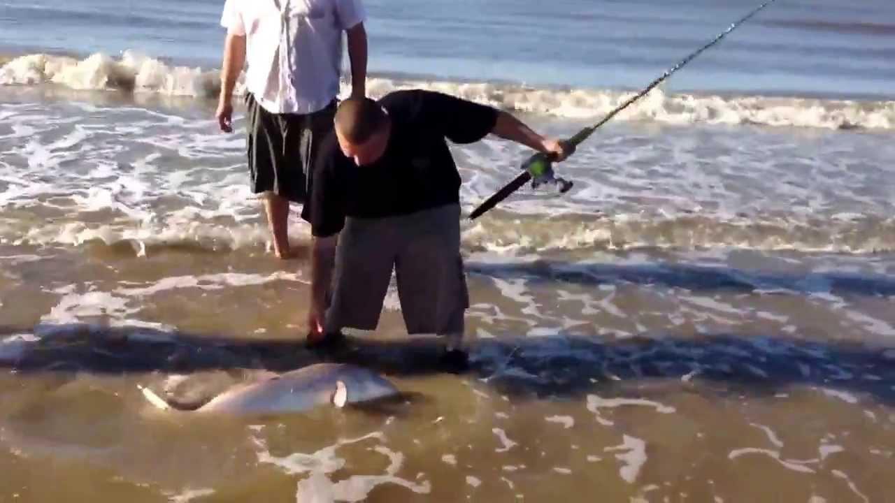 Surf fishing high island texas youtube for Fishing report surfside tx