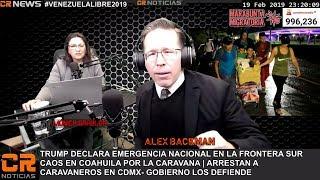CR NOTICIAS CAOS EN COAHUILA POR LA CARAVANA CRISIS EN VENEZUELA FEB 19 2019 fc}