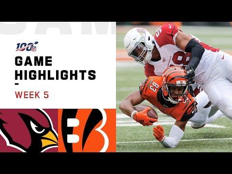 Cardinals vs. Bengals Week 5 Highlights | NFL 2019