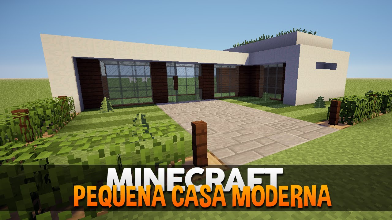 Minecraft construindo uma pequena casa moderna 4 youtube for Casa moderna total white