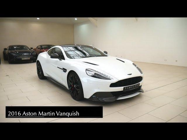 Aston Martin Vanquish White Carbon Edition V12 Cold Start Revs Interior And Exterior Walkaround Youtube
