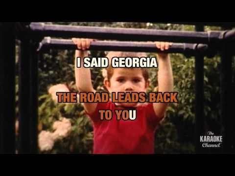 """Georgia On My Mind in the Style of """"Ray Charles"""" with lyrics (no lead vocal)"""