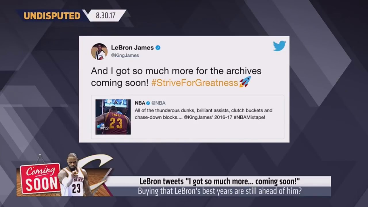 Are you buying that LeBron's best years are still ahead of him? | Undisputed