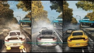 Need for Speed: Most Wanted - Wii U vs. PS3 vs. Xbox 360 Frame-Rate Tests