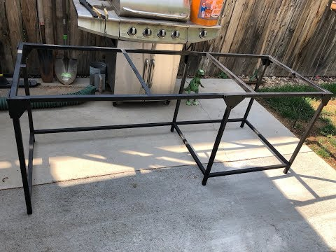 Homemade Steel Desk Frame