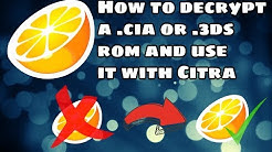 How to decrypt a .3ds or .cia file and use it with Citra