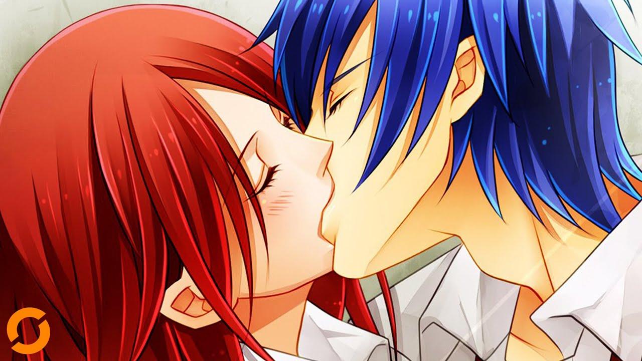 Japanische Mädchen küssen Kerl