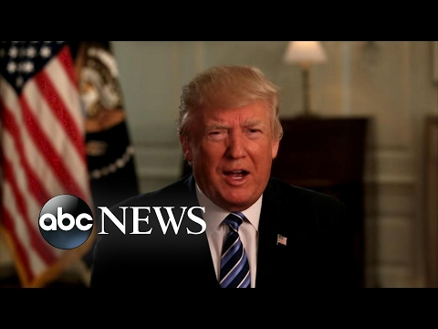 Thumbnail: President Trump's first 100 days met by praise and protests