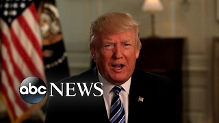 President Trump's first 100 days met by praise and protests