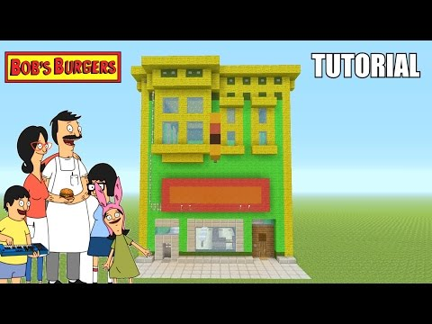 "Minecraft Tutorial: How To Make ""Bob's Burgers"" Restaurant / House! ""Bob's Burgers"" (Survival House)"