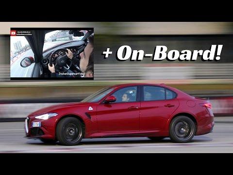Alfa Romeo Giulia Quadrifoglio [On-Board] - Action, Powerslide & V6 Turbo Sound!