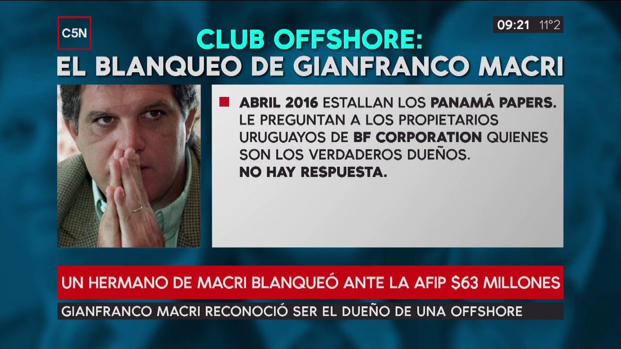 Hermano de Macri blanqueó 4 millones de dólares de una offshore