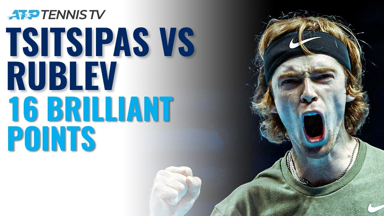 16 BRILLIANT Tsitsipas vs Rublev Tennis Points 🔥