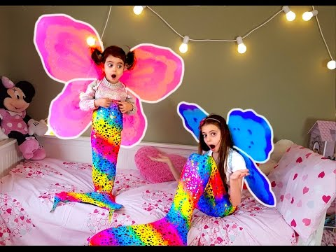 Thumbnail: Magic Fairy Mermaid Girls-Colored Butterfly Wings