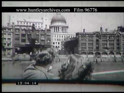 Boat From Westminster Pier, 1950s - Film 96776