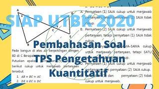 Download SIAP UTBK 2020, Pembahasan Soal TPS Pengetahuan Kuantitatif, Apakah pernyataan 1 dan 2 cukup?