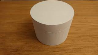 как сделать круглую коробочку из картона