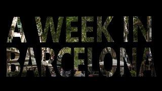 A week in Barcelona