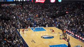 Crowd reaction of clutch Luka Doncic step back three against Houston Rockets.