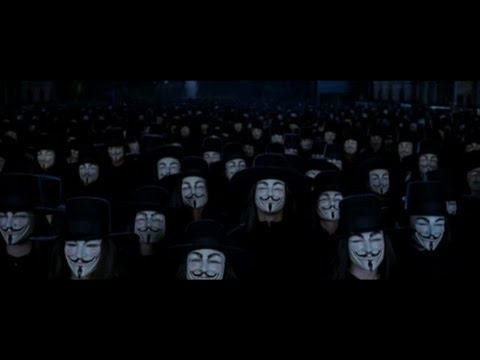 V For Vendetta: Ending scene.