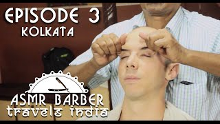 Indian Head Massage in Kolkata Barber Shop - ASMR no talking