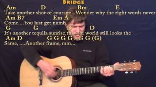 Tequila Sunrise (Eagles) Strum Guitar Cover Lesson with Chords/Lyrics