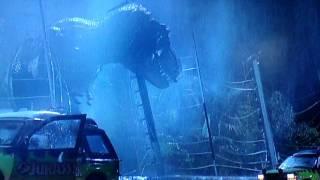 ジュラシック・パーク T-REX 登場シーン 咆哮 ティラノサウルス