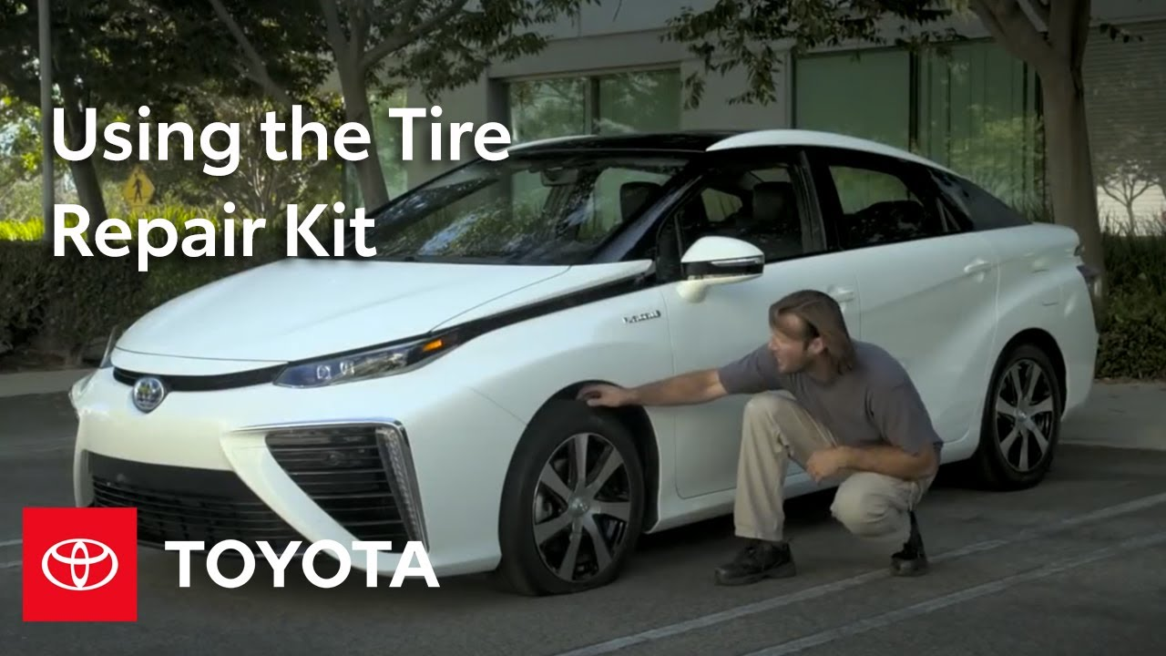 Toyota How To Prius And Mirai Tire Repair Kit Toyota Youtube