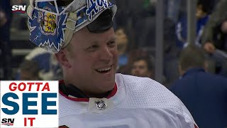 Gotta See It: Best of Emergency Goalie David Ayres' Win Over The Maple Leafs