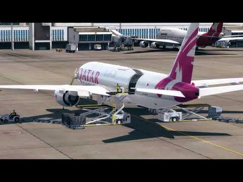 [PREPAR3Dv3] Flight Boeing 777F QATAR AIR CARGO - VHHX (Kai Tak) - EPML (Mielec)