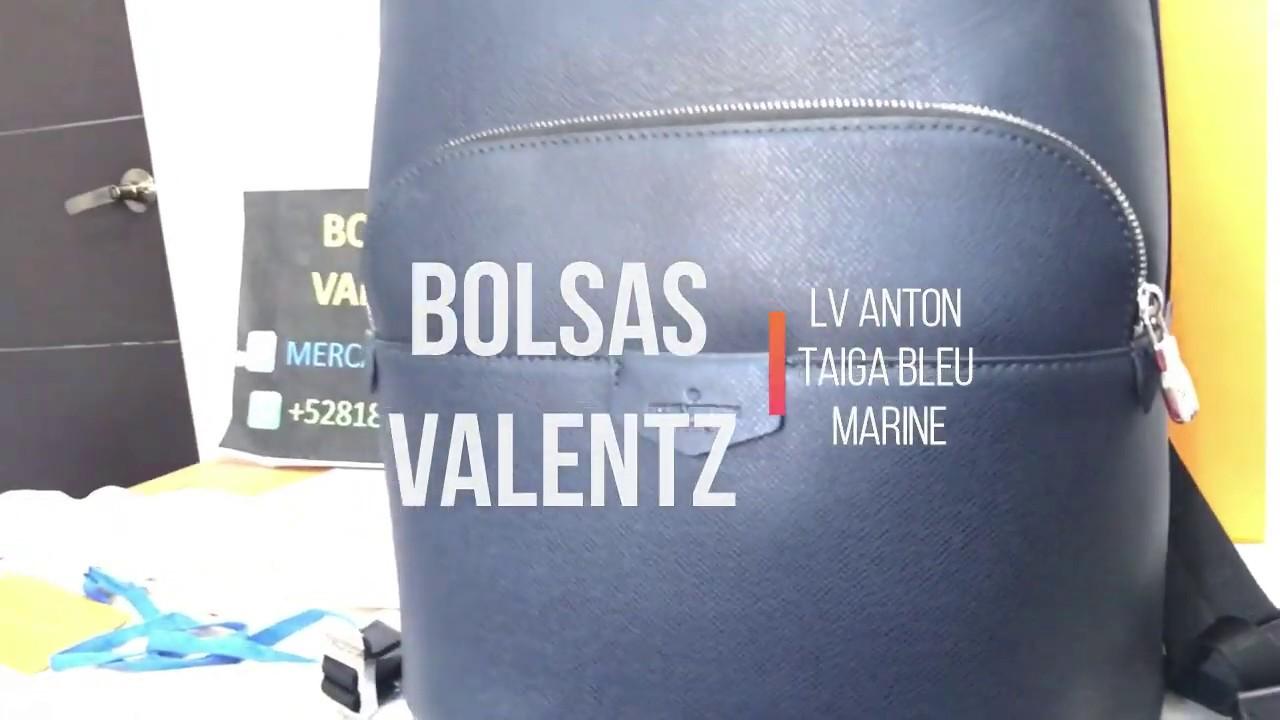 4416079002eb Louis Vuitton Anton Taiga bleu Marine Backpack review details - YouTube