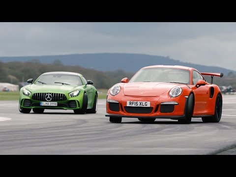 Merc-AMG GT R vs 911 GT3 RS vs BMW M4 GTS - Chris Harris Drives - Top Gear