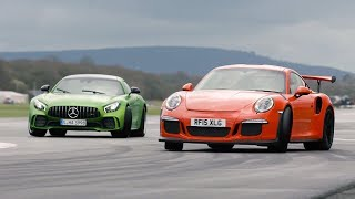 Merc-AMG GT R vs 911 GT3 RS vs BMW M4 GTS | Chris Harris Drives | Top Gear