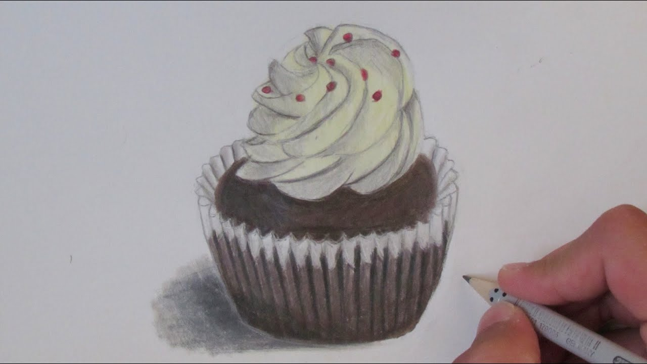 realistic cupcake speed drawing youtube