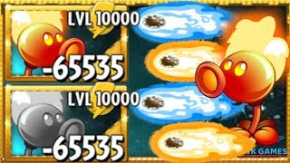 Plants vs Zombies 2 Fire Pea Upgraded to Level 10000 PvZ2