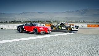 "*2018* Bugatti CHIRON vs ""Hoonicorn"" MUSTANG V2 Drag Race! Forza 7"