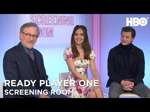 Steven Spielberg, Olivia Cooke & Tye Sheridan On Ready Player One 2018  HBO