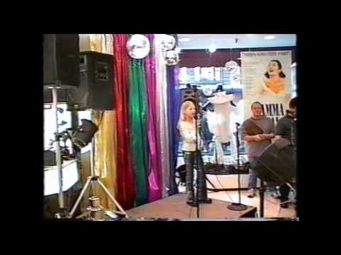 "Ashleigh Victoria, 7, (2002) ""God Bless America"" Dick Biondi officiating  (American Idol ref)"