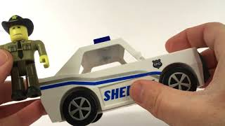 Robloxia Police Department Toy Unboxing | 2 Free Virtual Roblox Item Codes | Tim7775 Figure