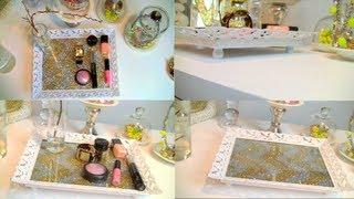 DIY Vanity/Perfume Tray | Chevron Glitte...