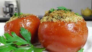 Помидоры фаршированные хлебными сухарями видео рецепт(Приготовлено по рецепту из