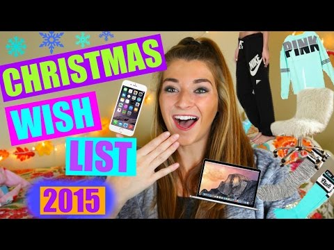 Christmas Wish List 2015 / Teen Gift Guide