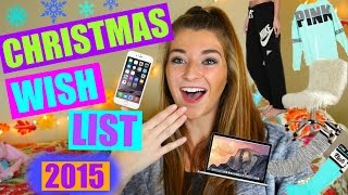 Christmas Wish List 2015 / Teen Gift Guide