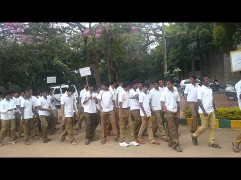 Sadbavana Day at UAS GKVK, Bangalore held on 25.11.2014- Marchfast - 2