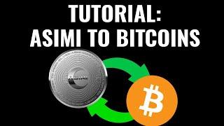 HashingAdSpace: Convert Asimi Tokens to Bitcoins