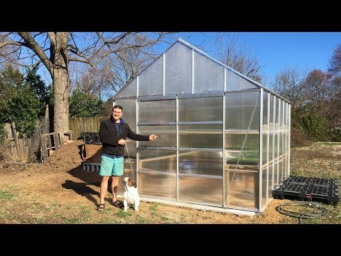 Harbor Freight 10 X 12 Greenhouse Kit (Complete Build and Modifications)