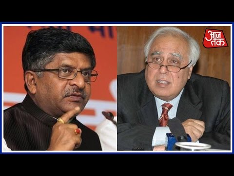Union Minister Ravi Shankar Prasad Hits Out At Kapil Sibbal In Press Conference