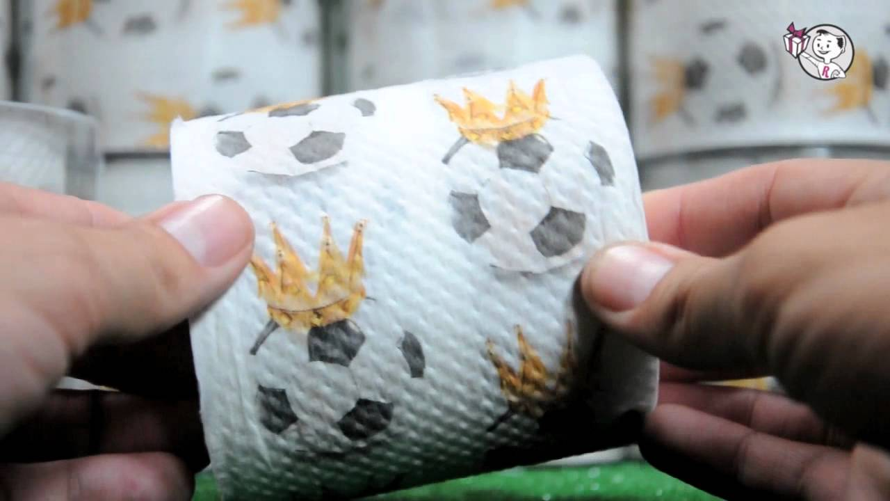 Papel Higinico Futbol Regalos Originales  YouTube