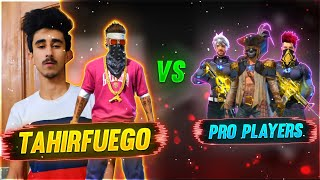 TAH RFUEGO PLAY NG W TH 4 F NGERS 🤯1 VS 3 PRO PLAYERS😍30k G VEAWAY