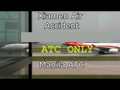 Xiamen Air MF8667 off the runway Manila Airport Air Traffic Control Audio ONLY!